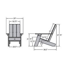 Diy Furniture Outdoor Patio Chairs - New ideas Diy Outdoor Furniture, Pallet Furniture, Furniture Projects, Garden Furniture, Modern Furniture, Woodworking Projects Diy, Diy Wood Projects, Adirondack Chair Plans, Coastal Bedrooms