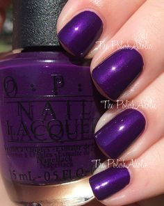 "OPI's ""I Carol About You"" nail polish/gel from its Holiday 2014 Gwen Stefani Collection. Nice vibrant purple with subtle shimmer. Pretty."