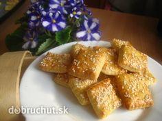 Fotorecept: Syrové krekry Cornbread, French Toast, Sweets, Cheese, Baking, Breakfast, Ethnic Recipes, Food, Basket