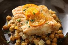 Steamed Fish with Chickpeas and Currants   How To Marinate And Make Better Food