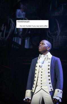 Aaron Burr, sir? Are you aware you're a moron, sir?