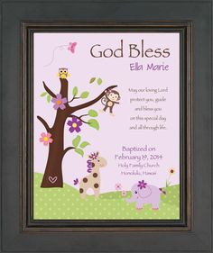 BAPTISM personalized Gift  Gift for by KreationsbyMarilyn on Etsy, $15.00
