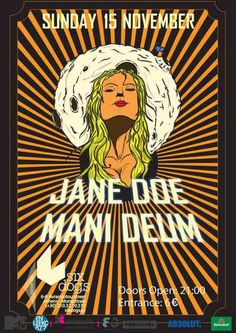 JANE DOE, MANI DEUM: Κυριακή 15 Νοεμβρίου @ Six Dogs