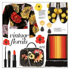 """""""Vintage Florals"""" by pat912 ❤ liked on Polyvore featuring River Island, Balmain, La Perla, Lizzie Fortunato, Butter London, NARS Cosmetics, vintage, polyvoreeditorial and vintageflorals"""