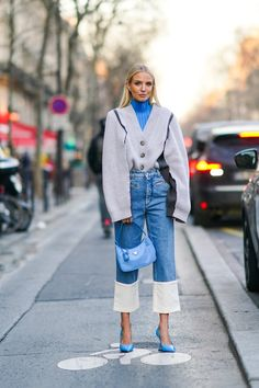 8 looks with jeans that will give you all the clues on how to combine them this spring - Winter Outfits High Street Fashion, Street Chic, Moda Fashion, Denim Fashion, Fashion Outfits, Womens Fashion, Fashion Trends, Looks Street Style, Looks Style