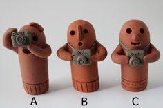 はにわ「カメラ女子」A、「カメラ部」B、C |置物|はにわ堂|ハンドメイド通販・販売のCreema