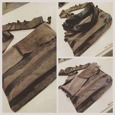 La mia prima borsa, l'ho chiamata ISTINTO.  Realizzata da una vecchia gonna in pelle. #dolcevitaatelier #riciclocreativo #leatherwork #siena #madeonme