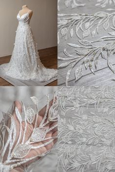 Beaded Wedding Gowns, Wedding Lace, Wedding Fabric, Lace Weddings, Wedding Dresses, 2 Colours, Lace Fabric, Sequins, Ivory