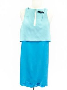 Alexander Wang Size 2 Blue Sleeveless Dress- silk, open back, and didn't fit the mannequin! New condition, purchase in our webshop! *Couldn't even try this on and loved it.