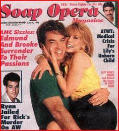 Brooke and Edmund's first cover on Soap Opera Magazine.