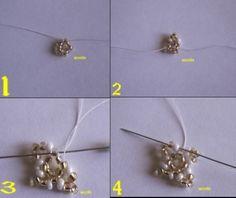 Bonjour On me demande souvent comment faire le tissage danois le plus simple c'est de commencer par un petit napperon pour apprendre la technique . J'avais fait ce pas à pas pour le forum bellecréas mais j'ai décidé de le mettre sur mon blog pour que... Seed Bead Earrings, Seed Beads, Beaded Bags, Beaded Jewelry, Bead Loom Patterns, Loom Beading, Doilies, Snowflakes, Hair Accessories