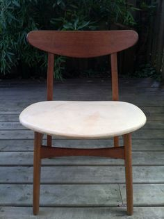 Hans Wegner chair with beautiful patinaed slightly wabi sabi seat