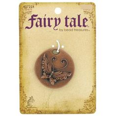 Fairy Tale by Bead Treasures Antique Copper Round Butterfly Pendant | Shop Hobby Lobby