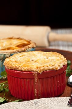Chicken or Turkey Pot Pie - Use up leftover chicken or turkey in this tasty, savory dish. No cream-of-anything.