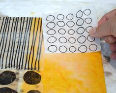 Encaustic collage tutorial by Elaine Brady Smith