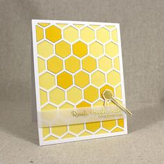 Rosh Hashanah Honeycomb Card by Lizzie Jones for Papertrey Ink (July 2015)