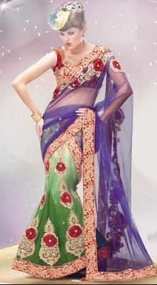 Fairy Tale Green And Purple Lehanga Choli