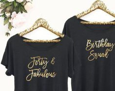 Forty and Fabulous Shirt - 40th Birthday Shirt - 40th Birthday Gift Ideas (EB3202CT) Dolman Style
