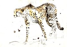 "Saatchi Online Artist Lucy Newton; Mixed Media, ""cheetah"" #art"