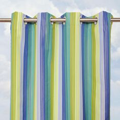 Sunbrella custom indoor / outdoor curtain panels. Extra long widths and lengths available.