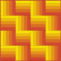 Several Rail Fence quilt patterns