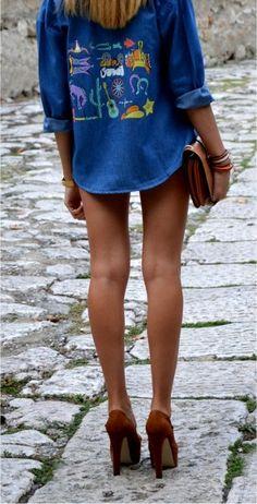 Shirt: Sheinside - Heels: Asos