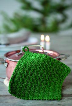 Hækl fine grydelapper - idé til en julegave