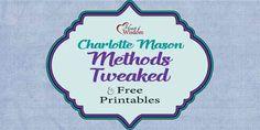Charlotte Mason Approach Tweaked & Free Printables | Heart of Wisdom Homeschool Blog