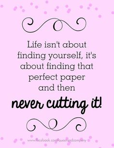 I have so many pieces of paper that I don't want to cut! It's definitely a collection! :-)