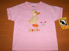 camiseta decorada con aplicaciones en tela aplique pato