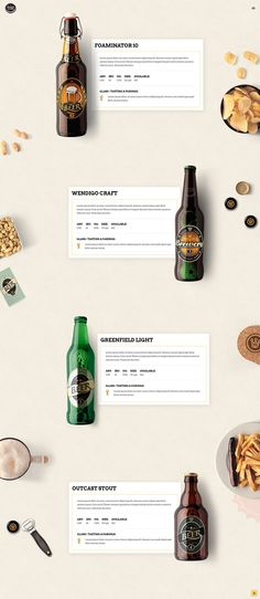 & Crafts WordPress Theme - Beer Showcase Display your beer selection in a modern way with Pints & Crafts WordPress theme.Display your beer selection in a modern way with Pints & Crafts WordPress theme.