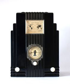 "Vintage 1933 AIR KING Model 66 Globe "" Skyscraper "", Art Deco Radio"