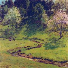 Willard Metcalf. | Blossom Time - Willard Metcalf - WikiPaintings.org