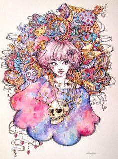 Galactic skull by Doringota.deviantart.com on @DeviantArt