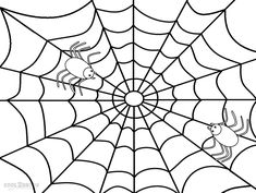 Draw a Spider Web  Spider webs Spider and Holidays