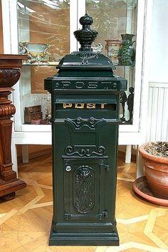 G66: Großer Nostalgie Briefkasten, Standbriefkasten, Aluminiumguß, Antik Grün in Heimwerker, Eisenwaren, Briefkästen | eBay