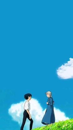 Wallpaper Animes, Anime Wallpaper Live, Anime Scenery Wallpaper, Animes Wallpapers, Moving Wallpapers, Studio Ghibli Art, Studio Ghibli Movies, Howls Moving Castle Wallpaper, Howl's Moving Castle Movie