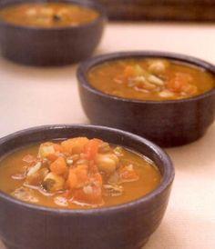 Észak-afrikai leves Thai Red Curry, Ethnic Recipes, Food, Cilantro, Eten, Meals, Diet