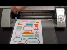 Silhouette America- Using Printable White Sticker Paper to cut out labels, tabs and Smash book items