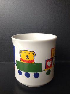 Bear Train Mug Valentines Day I Love You VTG Sandra Boynton Heart Coffee Tea Cup #CoffeeMugTeaCupHotChocolate