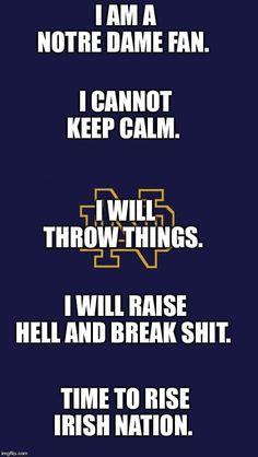 Go Irish, Keep Calm, Notre Dame, Stay Calm