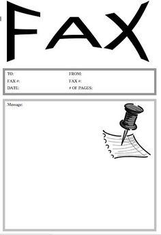 printable cover sheet fax