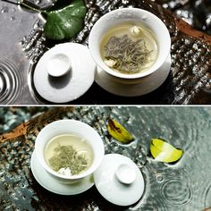 Rainy days should be spent at home with a cup of tea and a good book. Tea Quotes, Flower Tea, Chinese Tea, Rainy Days, Latte, Tea Cups, Book, Tableware, Dinnerware