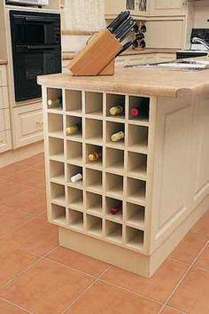 stylish kitchen upgrades from diy kits | bottle sizes, wine rack