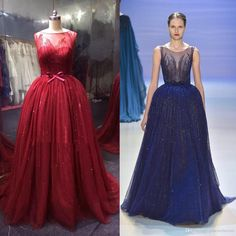 Womens Gowns Elie Saab Dresses Long Sleeves With Beaded Sequince Ball Gown Plus Size Evening Dresses With Bow Belt Prom Gowns Formal Dresses Real Photo 1940s Evening Dresses From Gonewithwind, $1047.13| Dhgate.Com