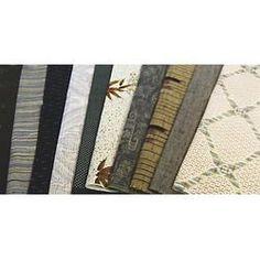 Vintage Kimono Fabric Bundles, Colour Coordinated (set of 10 pieces) - Green