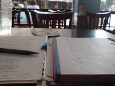 """""""Writing in a cafe in London"""""""