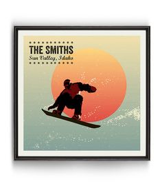 Another great find on #zulily! Vintage Snowboard Poster Personalized Art Print #zulilyfinds