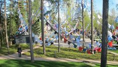 Diedrichsen museum 50th anniversary installation by Kaarina Kaikkonen in Kuusisaari, Helsinki until October.