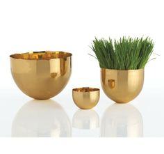 Dwell Studio Brass Bowls Set of 3